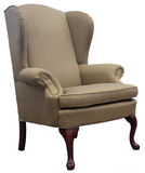 Koningin Anne Style Wing Chair Stock Afbeelding
