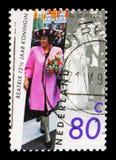Koningin Beatrix - regeer jubileum, serie, circa 1992 stock foto