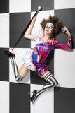 Koningin Chess met kunstmake-up Stock Afbeeldingen