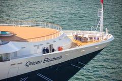 Koningin Elizabeth Cruise Ship Stock Foto's