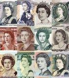 Koningin elizabeth de tweede diverse portretten stock fotografie