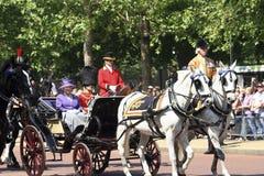 Koningin Elizabeth II en Prins Philip Stock Afbeeldingen