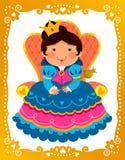 Koningin in gouden kader Stock Foto's