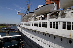 Koningin Mary Historic Ocean Liner Stock Afbeelding