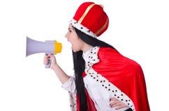 Koningin met luidspreker Royalty-vrije Stock Afbeelding