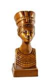 Koningin Nefertiti op wit Stock Fotografie