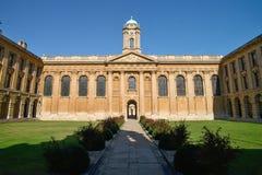 Koningin` s Collage - de universiteit van Oxford in Engeland het UK stock afbeeldingen