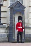 Koningin Soldier Guard in Buckhingham-Paleis Stock Foto's