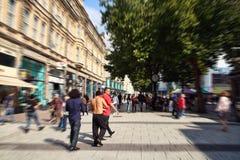 Koningin Street, Cardiff stock foto's