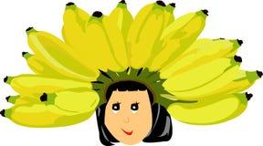 Koningin van banaan Royalty-vrije Stock Afbeeldingen