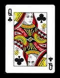 Koningin van clubsspeelkaart, Stock Afbeelding