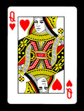 Koningin van hartenspeelkaart, Royalty-vrije Stock Foto's