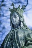 Koningin van Hemel Oud standbeeld van Maagdelijke Mary Christendom, godsdienst, geloof, Godsconcept royalty-vrije stock fotografie