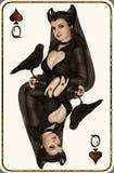 Koningin van Spades Royalty-vrije Stock Foto's
