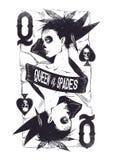 Koningin van spades Stock Afbeeldingen