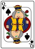 Koningin van Spades vector illustratie