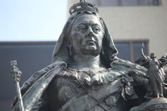 Koningin Victoria Statue Closeup stock foto's