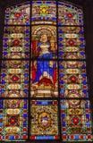 Koninginblanche stained glass saint louis Engelse L'ile Kerk Parijs Frankrijk Royalty-vrije Stock Foto