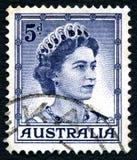 Koninginelizabeth ii Australische Postzegel Royalty-vrije Stock Foto