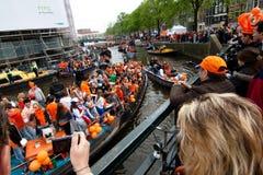 koninginnedag 2010 amsterdam Стоковые Изображения
