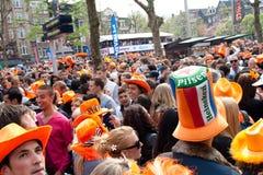 Koninginnedag 2010, Amsterdam, Rembrandtplein Stock Photos