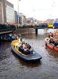 Koninginnedag Amsterdam 2010 Images libres de droits
