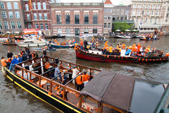 Koninginnedag Amsterdam 2010 Royalty Free Stock Photo