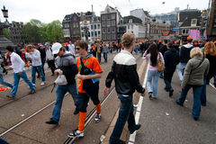 Koninginnedag Amsterdam 2010 Photos libres de droits