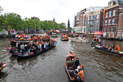 Koninginnedag Amsterdam 2010 Photo stock