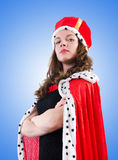 Koninginonderneemster tegen de gradiënt Royalty-vrije Stock Fotografie