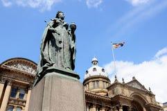 Koninginvictoria standbeeld, Birmingham stock afbeelding