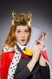 Koninginzakenman met luidspreker Stock Afbeeldingen