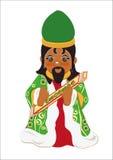 Konings belangrijke wierook royalty-vrije illustratie