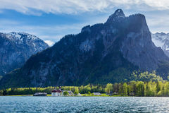 Koningsee lake and St. Bartholomew's Church, Germany Stock Photo