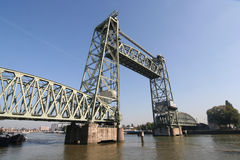 Koningshaven Railway Bridge Rotterdam Royalty Free Stock Photo