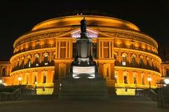 Koninklijk Albert Hall bij Nacht Stock Foto's