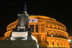 Koninklijk Albert Hall bij nacht Stock Foto