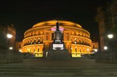 Koninklijk Albert Hall bij nacht Stock Afbeelding
