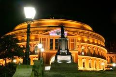 Koninklijk Albert Hall bij Nacht Stock Afbeeldingen