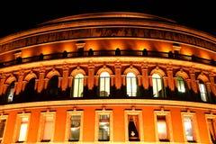 Koninklijk Albert Hall bij Nacht Stock Fotografie