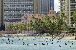 Koninklijk Hawaiiaans Roze Hotel royalty-vrije stock afbeeldingen