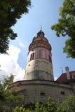 Koninklijk kasteel in Cesky Krumlov Stock Afbeelding