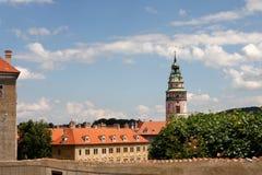 Koninklijk kasteel in Cesky Krumlov Stock Foto's