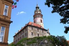 Koninklijk kasteel in Cesky Krumlov Royalty-vrije Stock Foto's