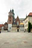 Koninklijk Kasteel in Cracov Stock Foto