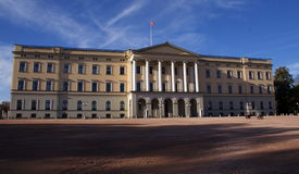 Koninklijk Kasteel, Oslo Royalty-vrije Stock Foto's