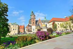 Koninklijk Kasteel Wawel Stock Foto