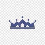 Koninklijk kroonpictogram Royalty-vrije Stock Foto