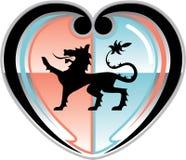 Koninklijk leeuw Hartelijk Schild royalty-vrije illustratie