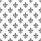 Koninklijk lelie naadloos patroon Royalty-vrije Stock Afbeeldingen